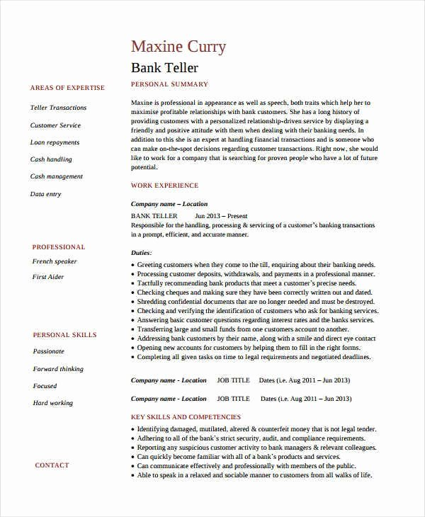 resume objectives for banking jobs fresh bank job with experience elfaro objective of Resume Teller Resume Objective