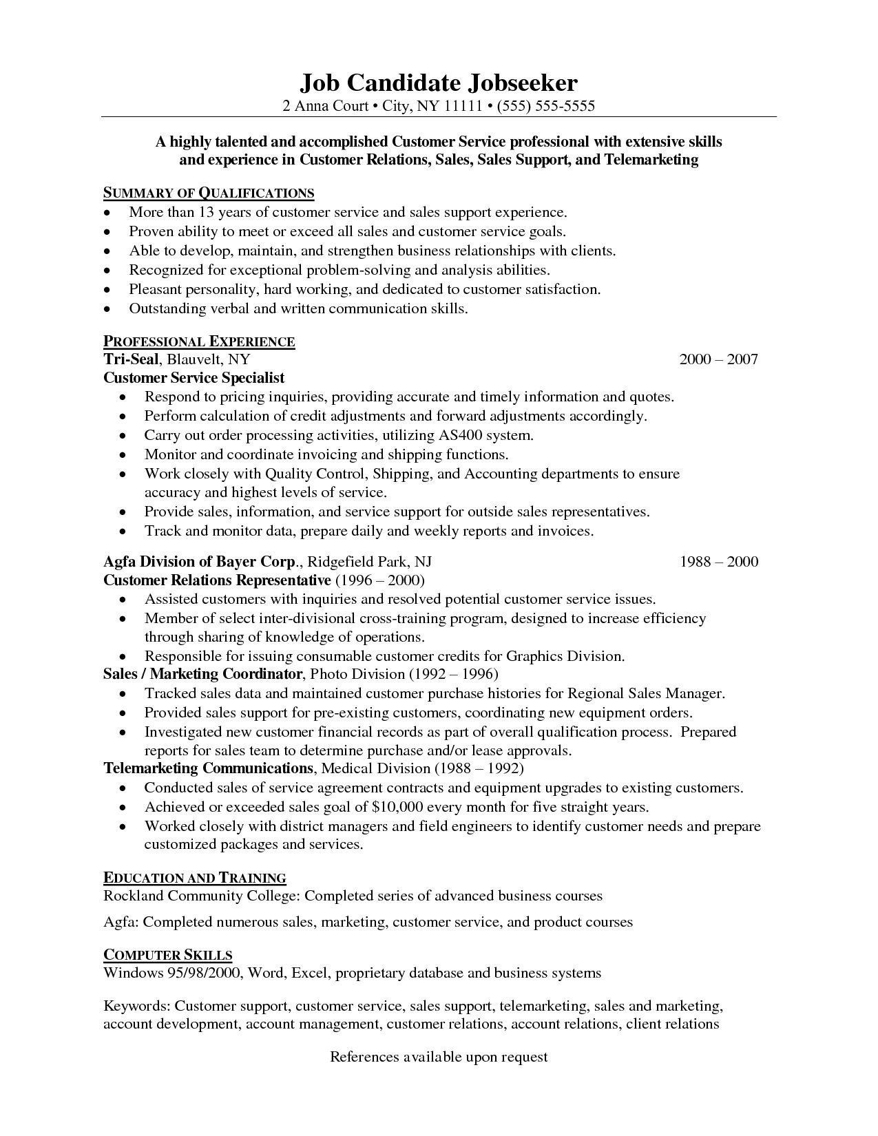 resume objectives for customer service best objective examples skills keywords call Resume Keywords For Call Center Resume