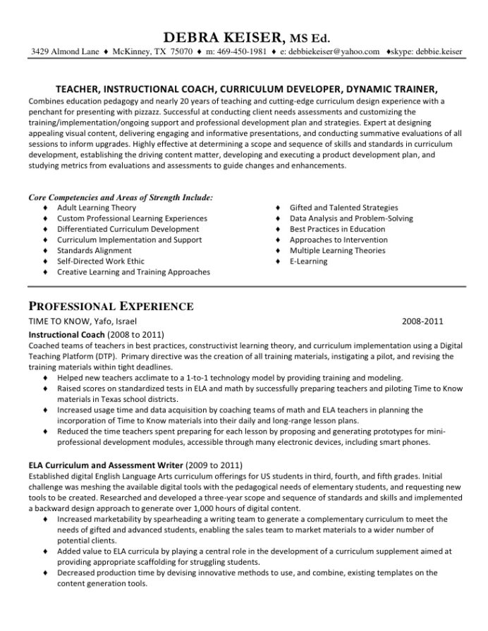 resume of debra keiser for linked in gifted and talented teacher abercrombie fitch skills Resume Gifted And Talented Teacher Resume