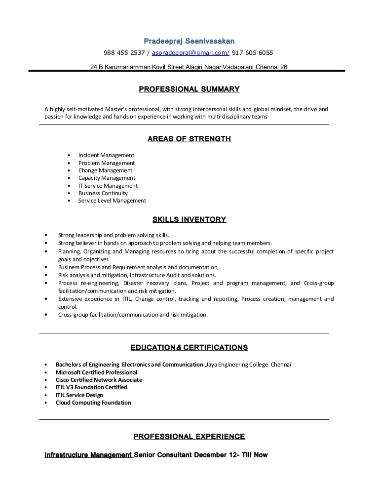 resume pradeepraj incident and problem management conversion gate02 thumbnail now cost Resume Incident And Problem Management Resume
