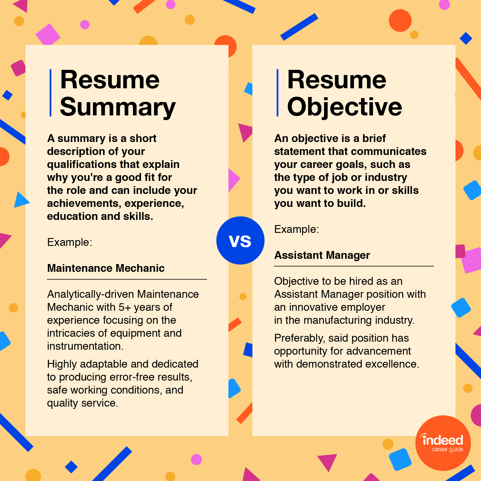 resume profile vs objective with examples indeed v4 career zone entry level certified Resume Resume Profile Vs Objective