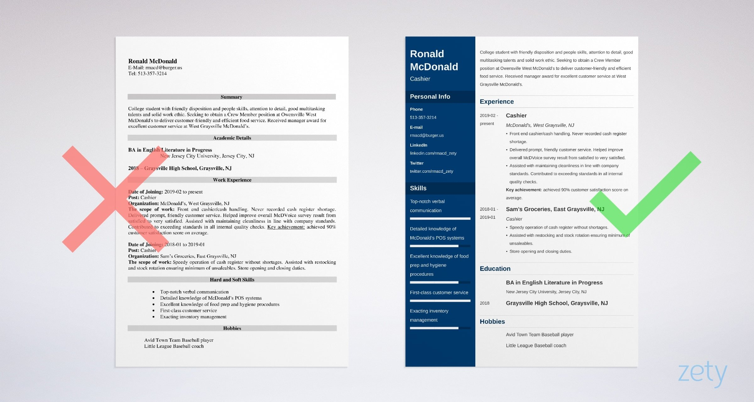 resume sample and writing guide examples mcdonalds job description example self taught Resume Mcdonalds Cook Job Description Resume
