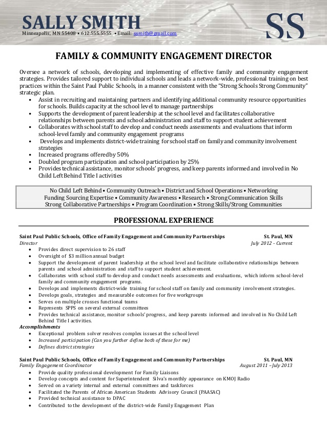 resume sample director of community involvement engagement manager visual merchandiser Resume Community Engagement Manager Resume