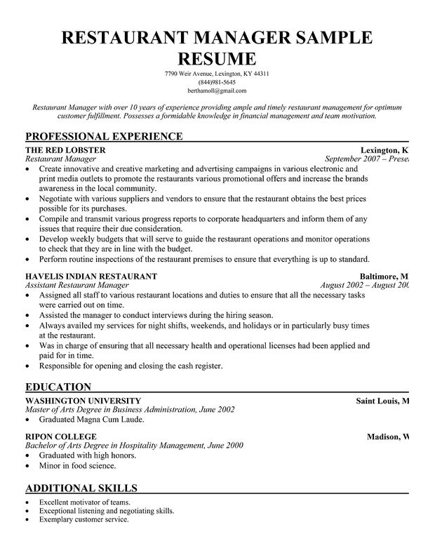 resume samples and to write companion help restaurant manager for army soldier senior Resume Resume Help Restaurant Manager