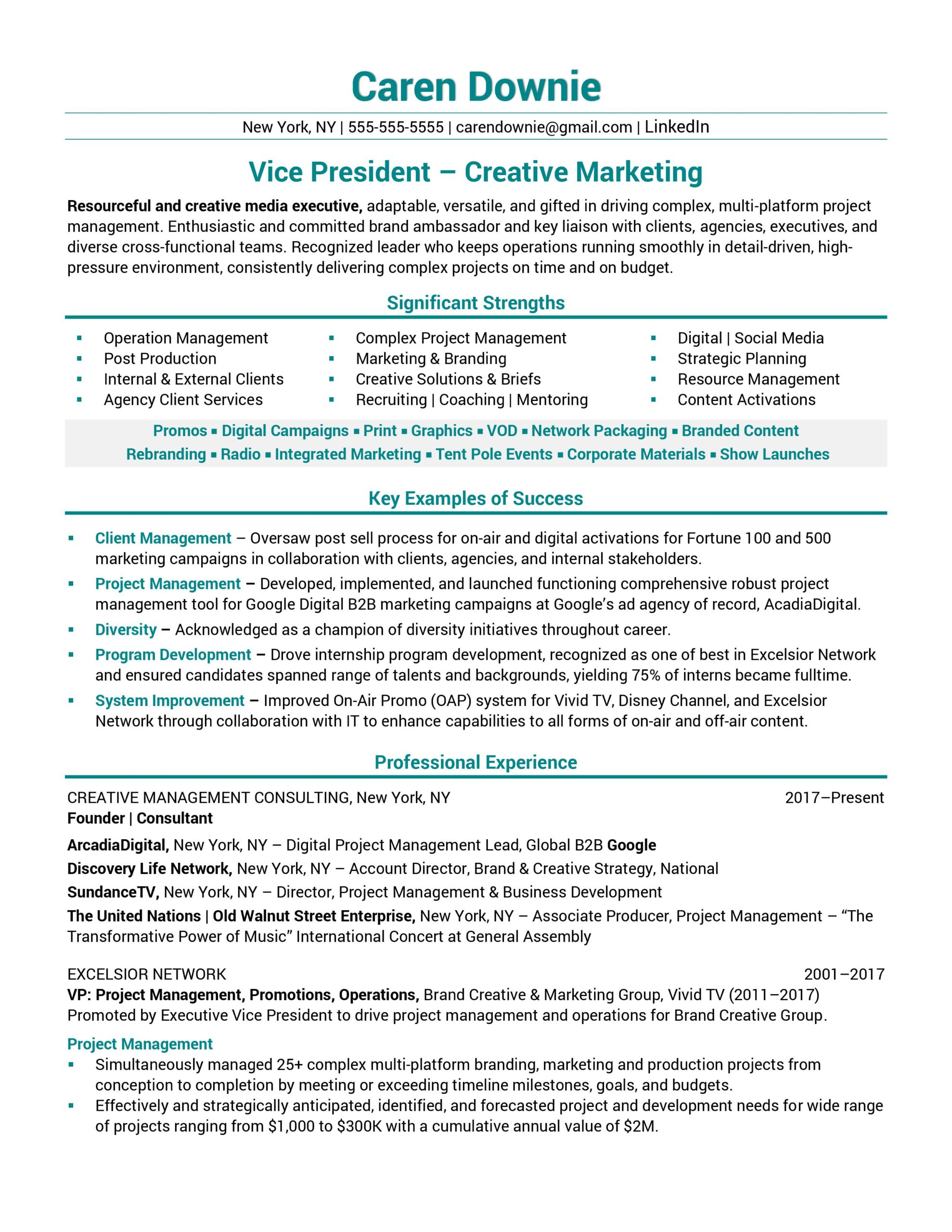 resume samples business transformation sample vice president creative marketing Resume Business Transformation Resume Sample