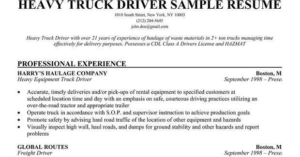 resume samples haul truck driver sample painter description for fillable federal template Resume Long Haul Truck Driver Resume Sample