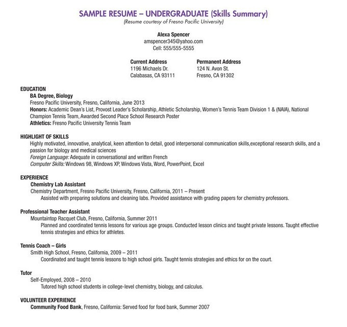 resume summary examples for high school students professional technical skills graduate Resume Professional High School Resume