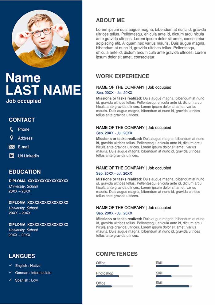 resume template free for word professional latest samples human resources generalist Resume Latest Resume Samples Free Download