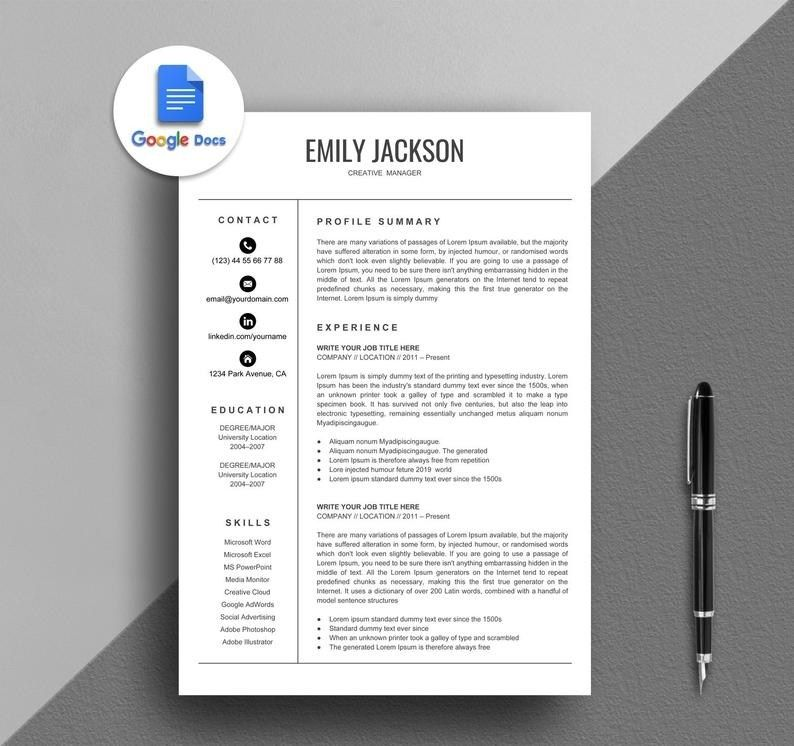 resume template google docs creative simple inst in functional free templates experienced Resume Free Google Docs Resume Templates