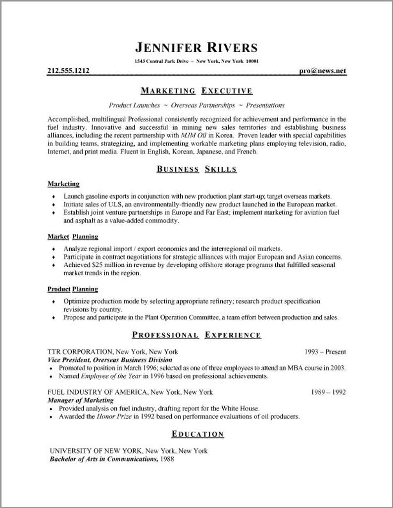 resume template professional instant etsy in best format examples job writing patient Resume Job Resume Writing Examples