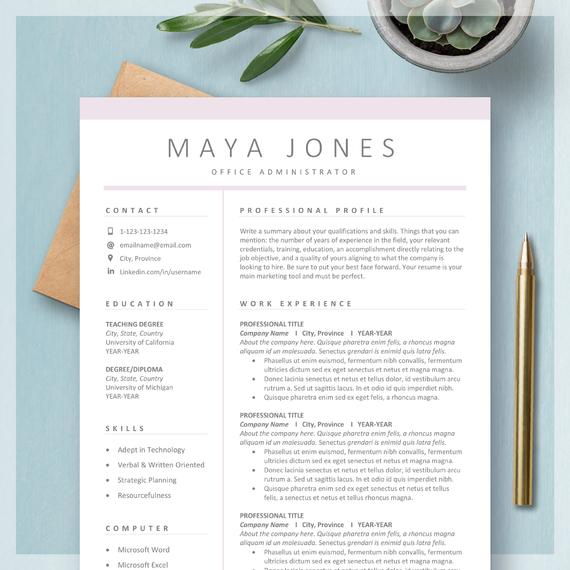 resume templates for ms word mac custom etsy template il 570xn ikxz unsolicited auto Resume Resume Template Word Mac