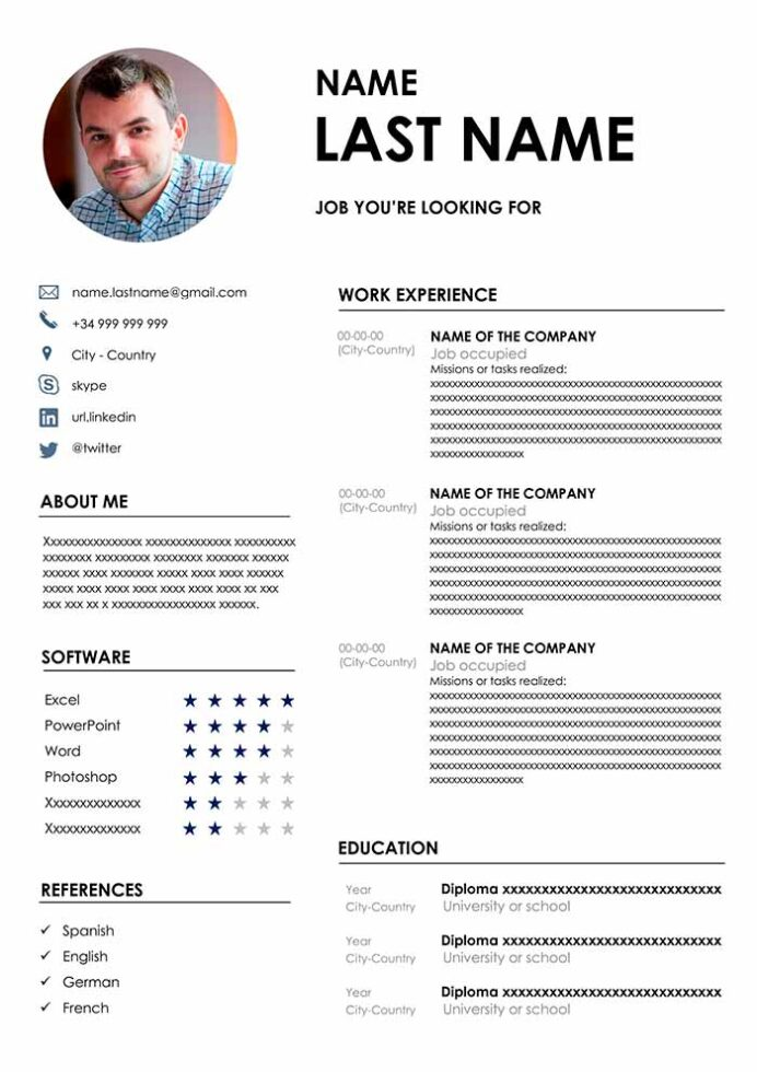 resume templates in word free cv format standard template best job description of Resume Standard Resume Template Word