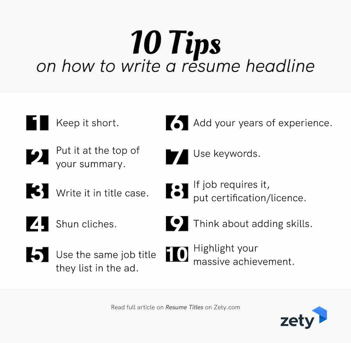 resume title examples good headline for any your profile tips on to write music college Resume Headline For Your Resume Profile