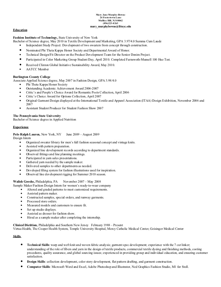 resume update mary jane murphy bowne pattern maker sample contoh oil and gas killer Resume Pattern Maker Resume Sample