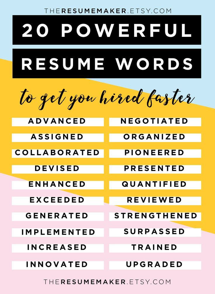 resume words free tips template search by muzli for writing another word skills on jmeter Resume Power Words For Resume Writing