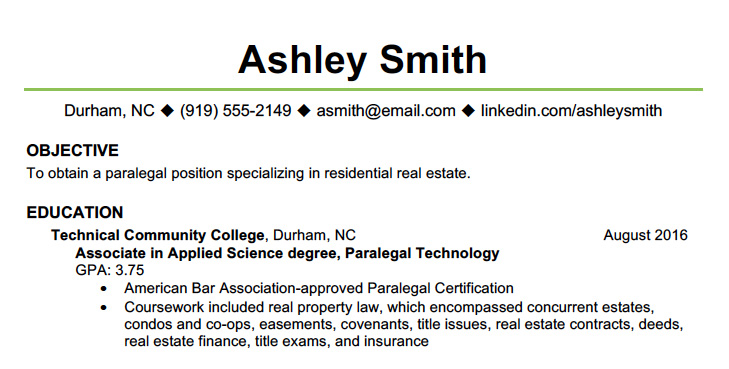 resume writing education information degree received on history example paralegal general Resume Degree Received On Resume