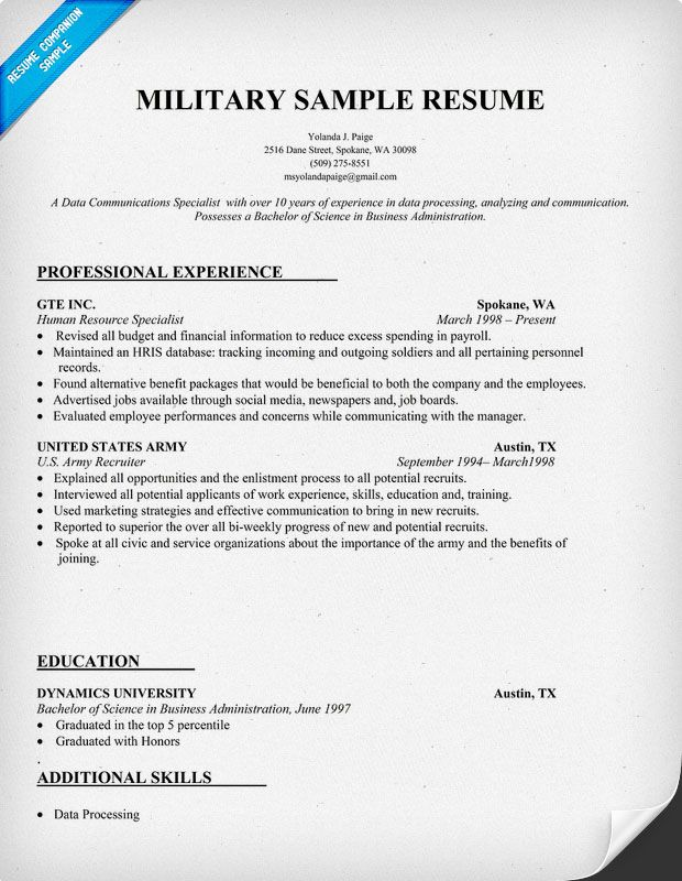 resume writing service for military to civilian transition patient care associate Resume Military Resume Service