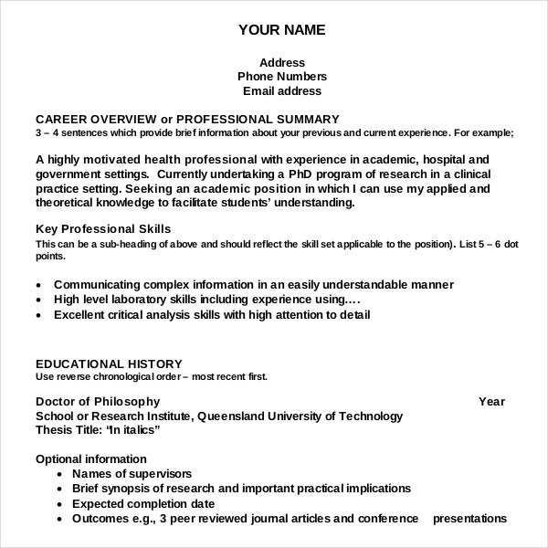resume writing templates samples pdf free premium professional academic template for Resume Professional Resume Writing Samples