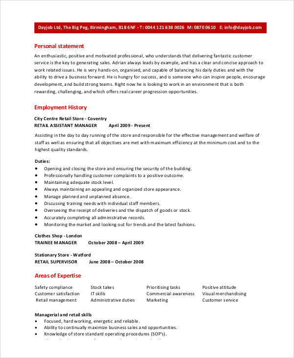 retail assistant manager resume sample skills self taught programmer reddit for research Resume Assistant Manager Skills Resume