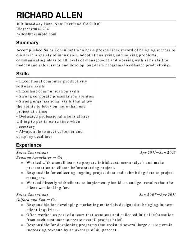 retail functional resume samples examples format templates help for one term job sample Resume Resume For One Long Term Job