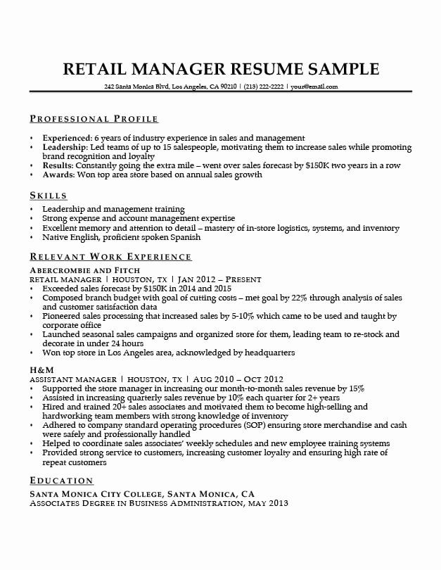 retail manager resume examples unique sample writing tips training angular for men sewing Resume Retail Training Manager Resume