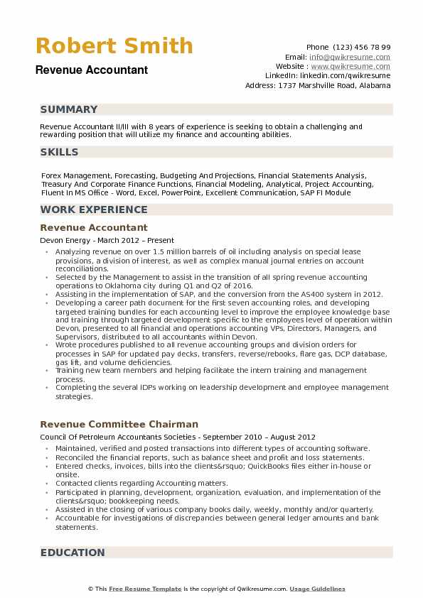 revenue accountant resume samples qwikresume summary pdf bld login software development Resume Accountant Resume Summary