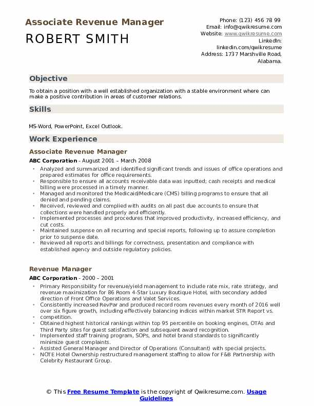 revenue manager resume samples qwikresume examples pdf chronological order example create Resume Revenue Manager Resume Examples
