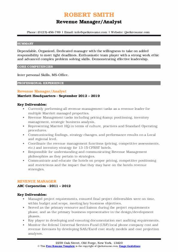 revenue manager resume samples qwikresume examples pdf event luxury car salesman project Resume Revenue Manager Resume Examples