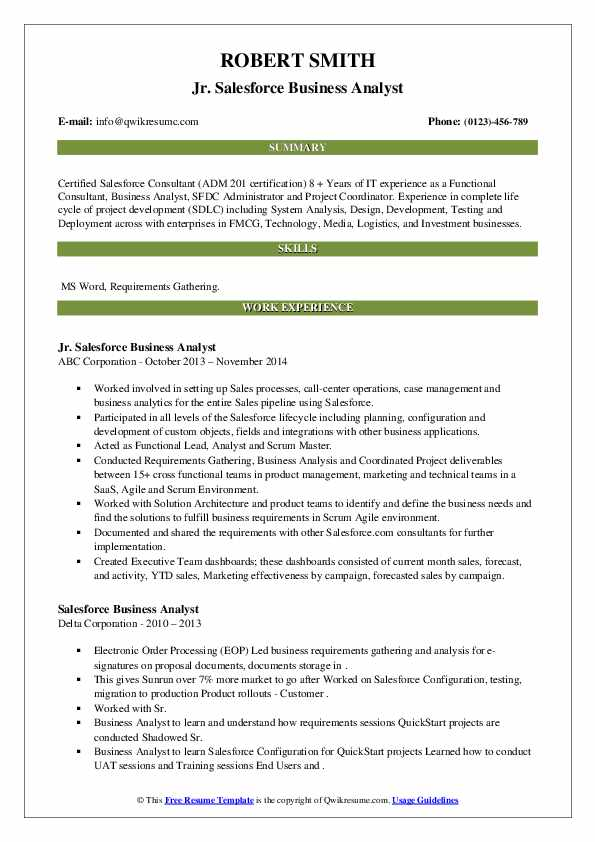 salesforce business analyst resume samples qwikresume pdf best general objective for Resume Salesforce Business Analyst Resume
