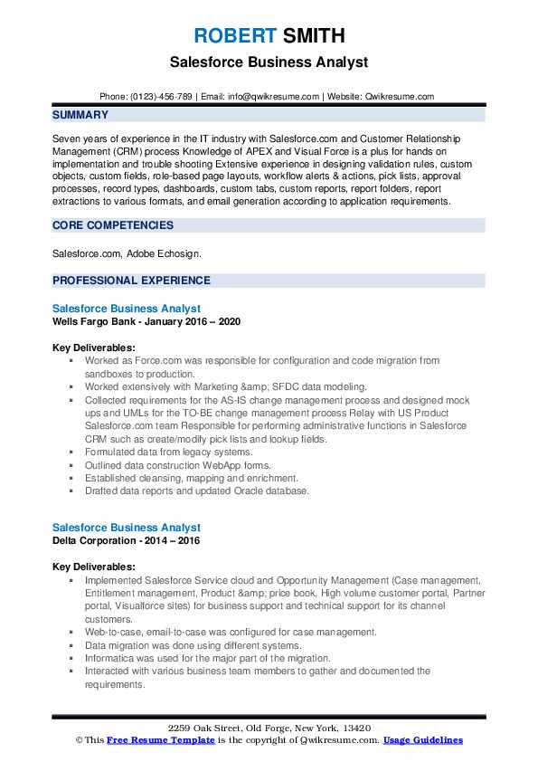 salesforce business analyst resume samples qwikresume pdf data objective retail manager Resume Salesforce Business Analyst Resume