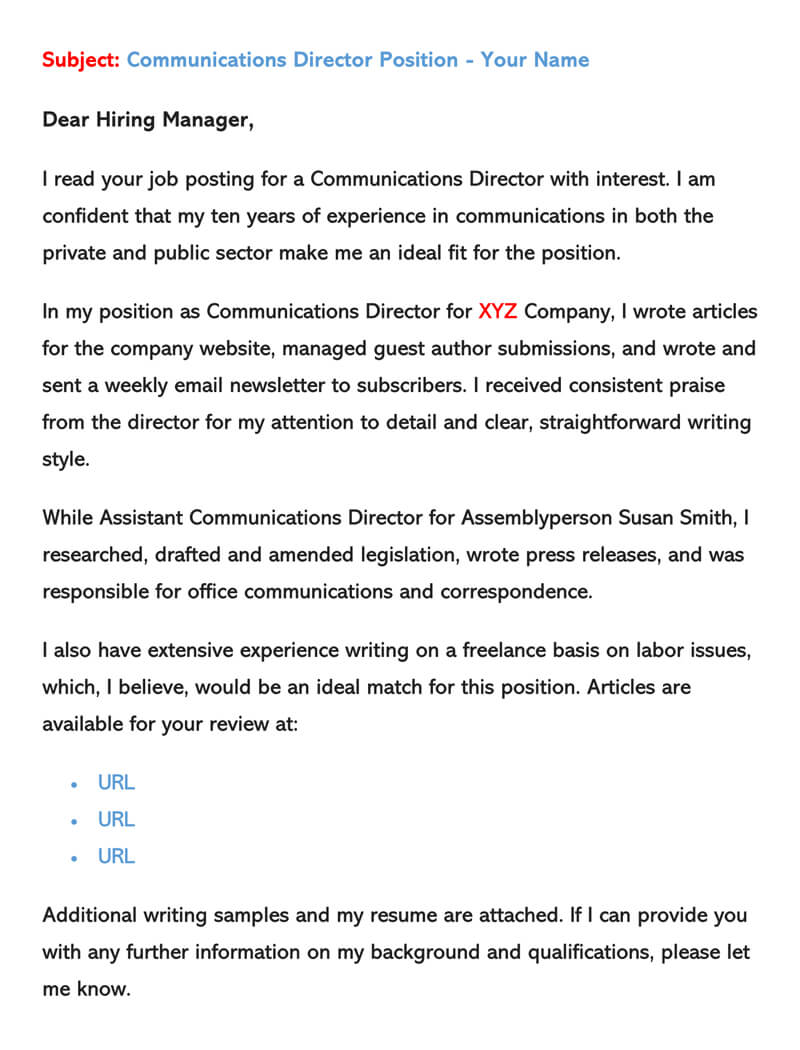 sample email cover letters examples to write and send writing an with resume letter for Resume Writing An Email With Resume