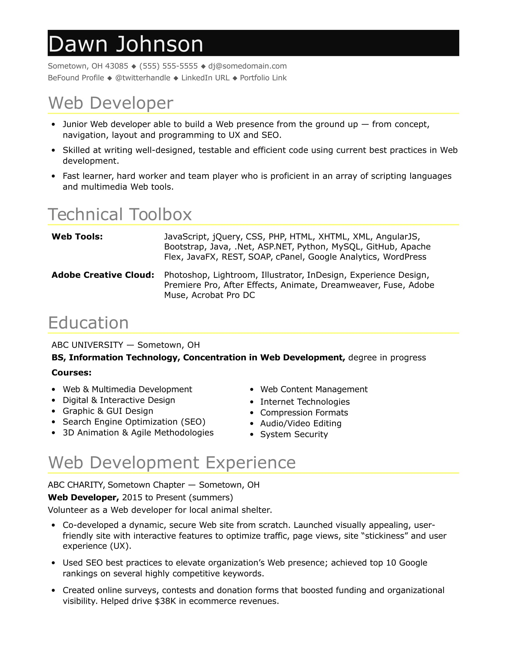 sample resume for an entry level it developer monster angularjs oil field job catchy Resume Angularjs 2 Resume Sample