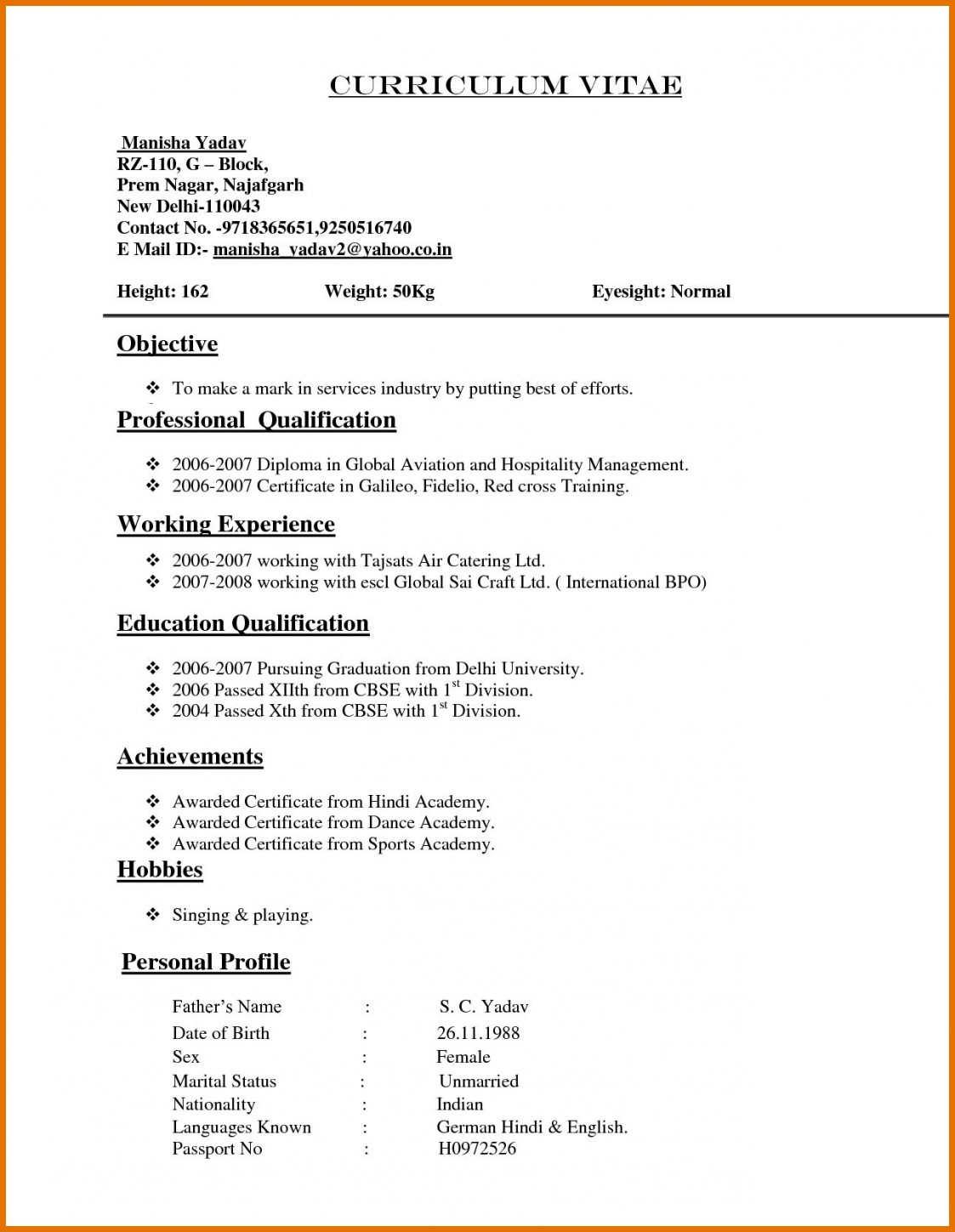 sample resume for experienced template builder example templates format normal review Resume Sample Resume Templates For Experienced