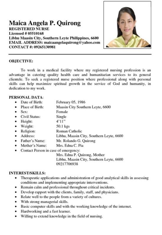 sample resume registered nurse resumesdesign templates job format typing up for order Resume Typing Up A Resume For A Job