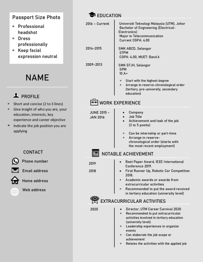 sample resume utm career carnival malaysian template additional information on examples Resume Malaysian Resume Sample