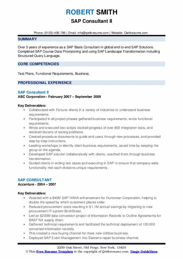 sap consultant resume samples qwikresume portal pdf microsoft experience word starter Resume Sap Portal Consultant Resume