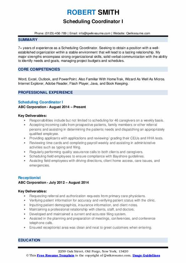 scheduling coordinator resume samples qwikresume for pdf chemical engineering template Resume Resume For Scheduling Coordinator
