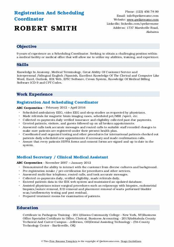 scheduling coordinator resume samples qwikresume for pdf self description pretty layouts Resume Resume For Scheduling Coordinator