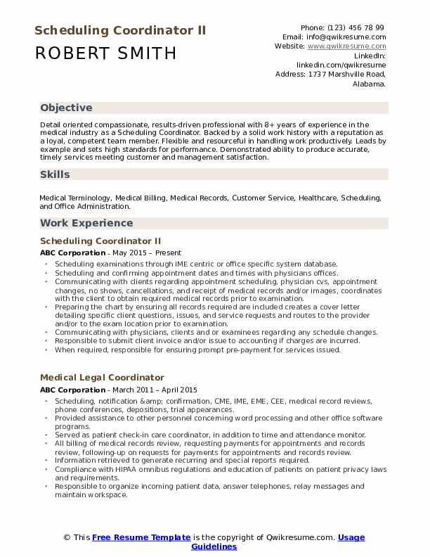 scheduling coordinator resume samples qwikresume for pdf sitecore architect self Resume Resume For Scheduling Coordinator