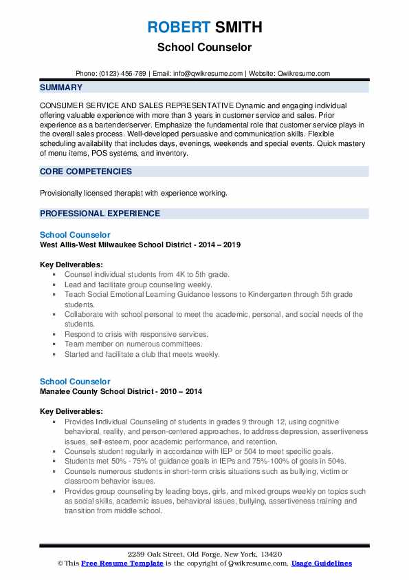 school counselor resume samples qwikresume guidance pdf creative writer example general Resume Guidance Counselor Resume Samples