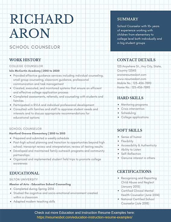 school counselor resume samples templates pdf resumes bot guidance example food pantry Resume Guidance Counselor Resume Samples