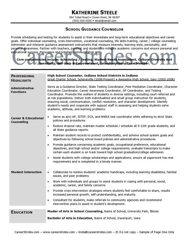 school guidance counselor resume sample example counselors samples delivery driver Resume Guidance Counselor Resume Samples