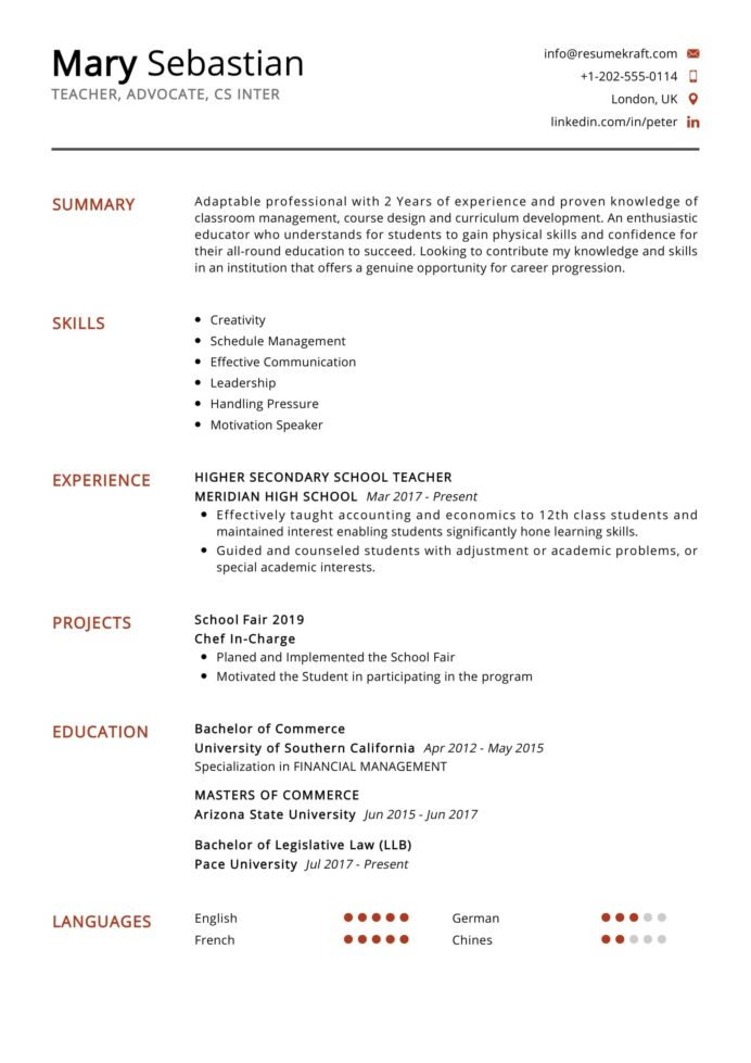 school teacher resume objective free templates secondary of high best format lpn Resume Secondary Teacher Resume