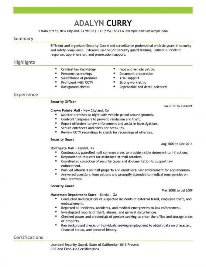 security officer jobs supervisor resume summary professional human resources financial Resume Security Supervisor Resume Summary