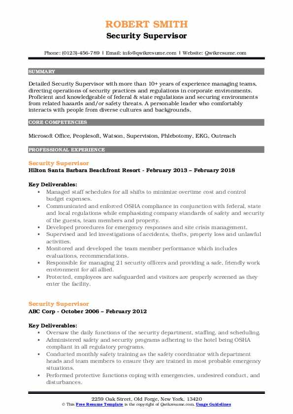 security supervisor resume samples qwikresume shift pdf an example of objective warehouse Resume Security Shift Supervisor Resume