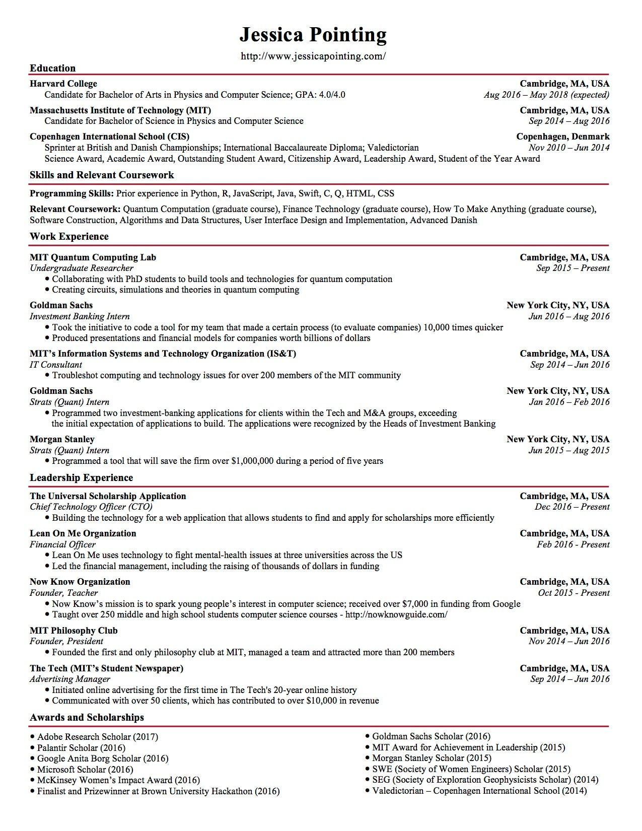 see the resume that helped college student land internship offers from google apple and Resume Resume For Google Internship