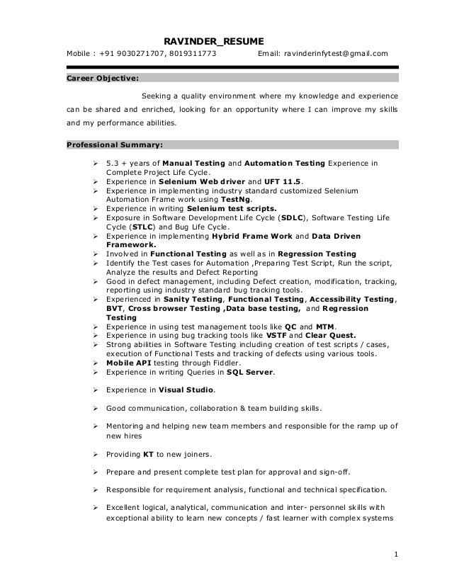 selenium resume for years experience passionate synonym account executive examples Resume Selenium Resume For 8 Years Experience