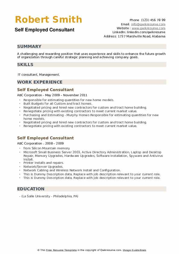 self employed consultant resume samples qwikresume summary for sample pdf project manager Resume Self Summary For Resume Sample