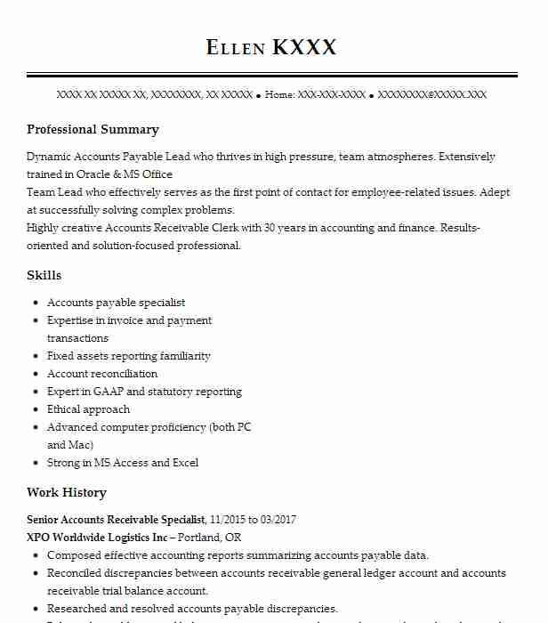 senior accounts receivable specialist resume example general electric co middleburg Resume Accounts Receivable Specialist Resume