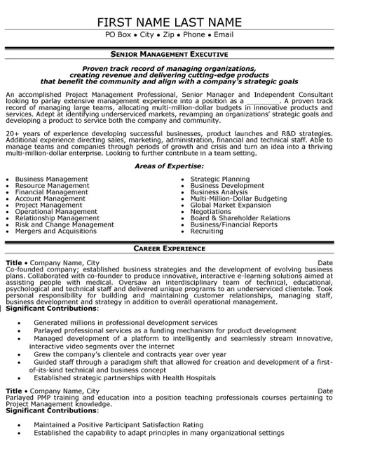 senior manager resume sample template business mg management executive capabilities Resume Business Manager Resume